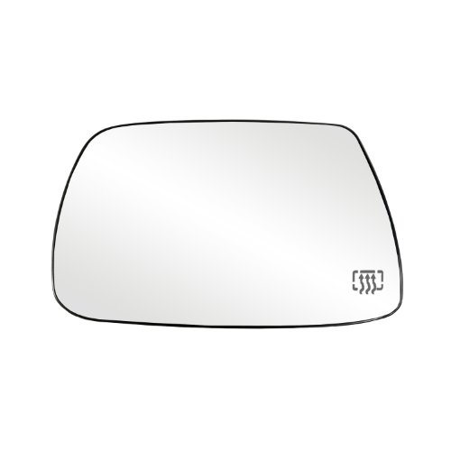 Fit System 33265 Jeep Grand Cherokee Left Side Heated Power Replacement Mirror Glass with Backing Plate