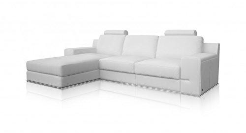 Torrenova salón esquina izquierda sofá Classic blanco piel