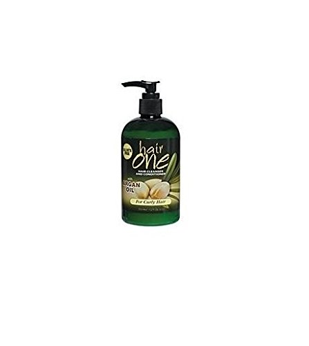 Hair One Cleanser and Conditioner with Argan Oil for Curly Hair 12 oz