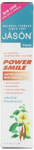 JASON Vanilla Mint PowerSmile Whitening Toothpaste, 6 Ounce Tubes (Pack of 3) by Jason