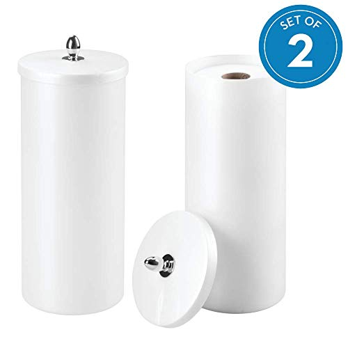 (InterDesign Orb Plastic Free Standing Toilet Paper Tissue Holder, Roll Reserve Canister for Kids', Guest, Master, Office Bathroom, 6