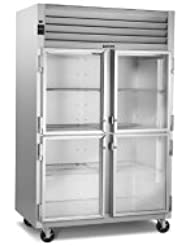 Traulsen G-Series G21001 Glass Door 2-Section Refrigerator