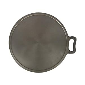 The Indus Valley Pre Seasoned Super Smooth Cast Iron Tawa,11 Inch, 2.8Kg