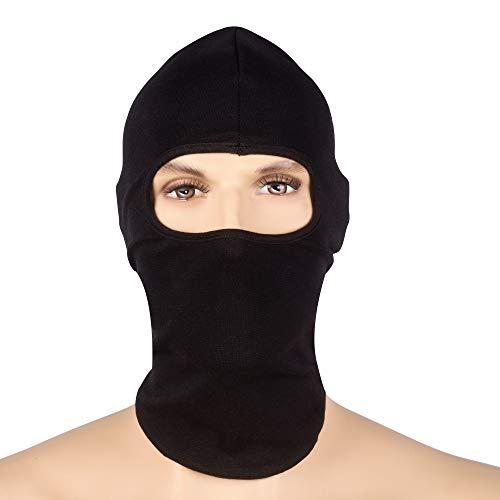 Texas FRC - Flame Resistant Full Face Masks - HRC 2-100% Cotton Lightweight - FRC Mask (Full Face Mask Black)