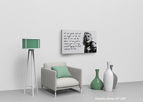 Marilyn Monroe Quotes /'I`m Good but not an Angel/' Decorative Art Canvas Print