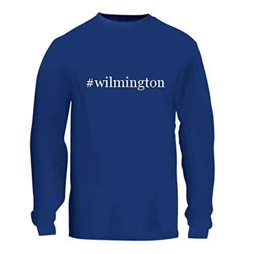 #Wilmington - A Nice Hashtag Men's Long Sleeve T-Shirt Shirt, Blue, Large