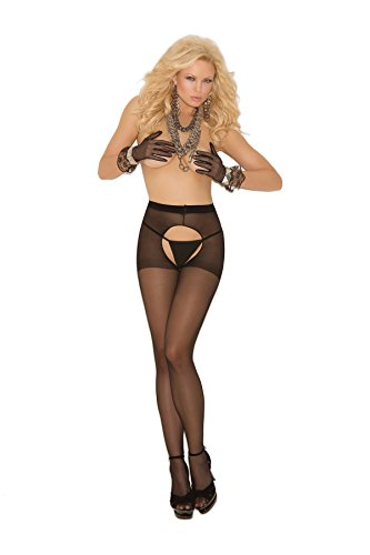 Plus Size Women's Sheer Crotchless Pantyhose (Plus Size Queen)