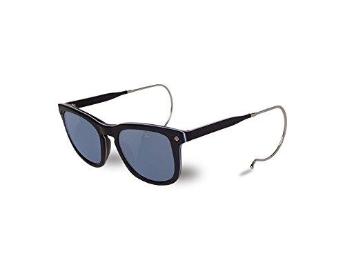 Vuarnet VL150900020622 Hooks Cable Temple Sunglasses Matte Black Legend Frame Polarized Blue Glass - Vuarnet Sunglasses Wayfarer