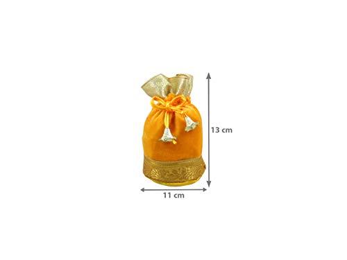 Amazon.com: goldgiftides Potli de terciopelo bolsas para ...