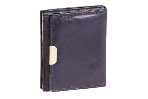 Portafoglio Boxed Style LEAS, Vera Pelle, porpora - ''LEAS Special Edition''