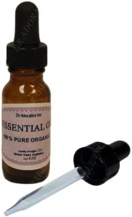 Melissa Essential Oil 100% Pure Organic 0.6 Oz/18 Ml with Glass Dropper