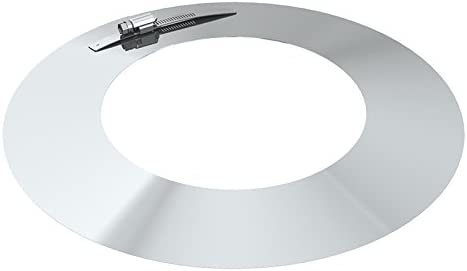 Rosette Edelstahl DN 250 250mm Abgasrohr Schornstein Kragen Wandblende Kamin