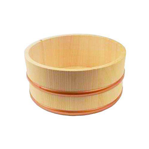 Japanese Hinoki Bath Bucket, Naturally Antibacterial (Bucket Wood Bath)
