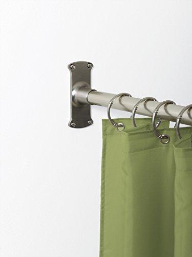 Zenna Home 33941bn Neverrust Aluminum L Shaped Corner Shower Curtain Rod Satin Nickel For
