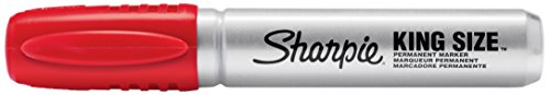 Sharpie Sharpie King Size Permanent Marker, Chisel Tip, Red (15002)