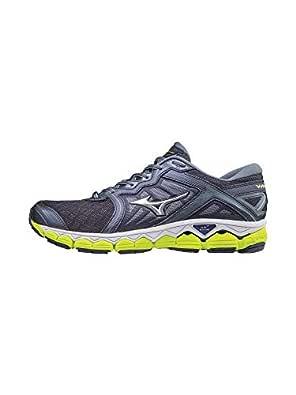 Mizuno Men's Wave Sky Running Shoes, Gray Stone - Silver, 8 D US