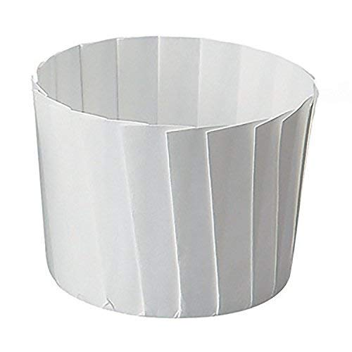 - Welcome Home Brands GP002 White Pleated Paper Baking Cup 4.7 Ounce Volume, 2.2 Inch Diameter x 2 Inch High - Pack of 70