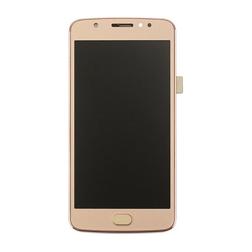 LCD Display Touch Screen Digitizer New Assembly For Motorola Moto E4 Plus XT1775 XT1776 5.5'' Gold With Frame