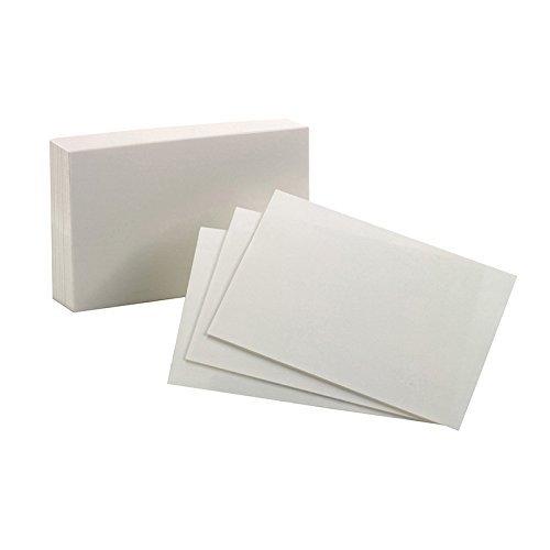 - ESSELTE CORPORATION OXFORD INDEX CARDS 4X6 PLAIN WHITE (Set of 3)