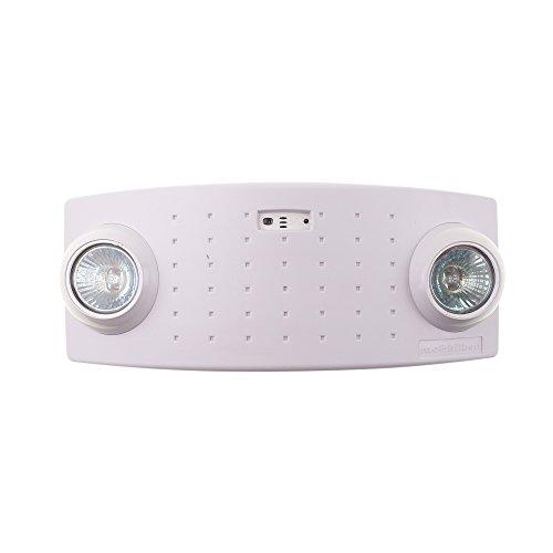 Philips McPhilben CAX6 Semi-Recessed Emergency Light, 2 Light, 120/277V, White (Chloride Emergency Light)
