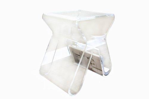 Baxton Studio Carlina Acrylic Stool/End Table, Clear Baxton Studio Clear Acrylic