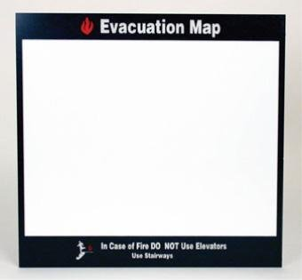 NMC EMH4, Evacuation Map Holder (Pack of 4 pcs) ()
