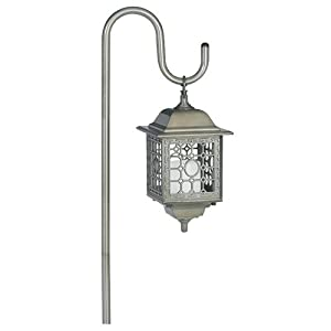 Manor House by Sterno Home Flickering Low Voltage Light on Shepherd's Hook