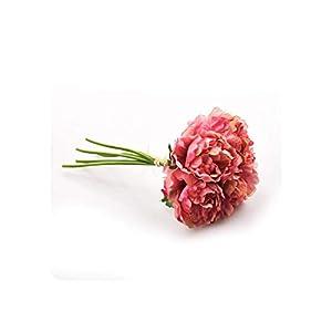 Geminilee Artificial Flower Hydrangea 5 Heads Peony Bridal Bouquet Silk Flower for Wedding Valentine's Day Party Home Decoration,5 24