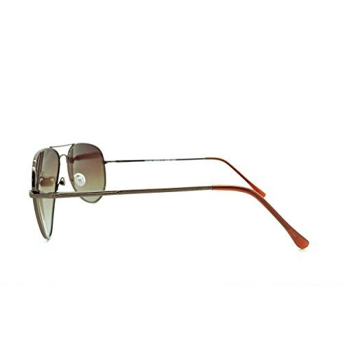métalliques aviateur polarisées Marron de soleil Lunettes wqI7t4xn