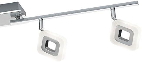 Trio Leuchten LED-Deckenleuchte Paradox, Chrom, aluminium Gebürstet, acryl weiß, 871910406