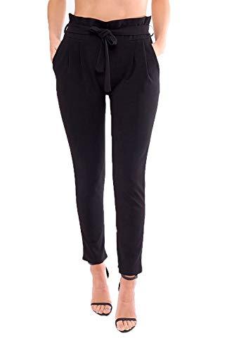 pantalones de negro talla mujer 21 moda xY7ZYF
