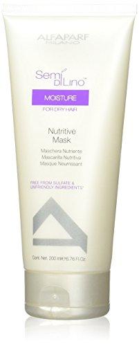 Alfaparf Dry Hair Shampoo - AlfaParf Semi Di Lino Moisture Nutritive Mask, 6.76 Ounce