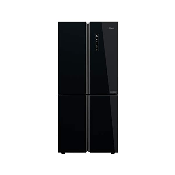 Haier 531 L Inverter Frost-Free Side-by-Side Refrigerator (HRB-550KG, Black,Convertible) 2021 August Frost-free Side by Side refrigerator with Twin Inverter Technology-ensures that the compressor & fan can run at different speeds Capacity: 570 litres suitable for a large family Energy rating: , Annual energy consumption: 358 per year