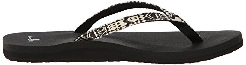 Sanuk tribal Negro Black Joy Funk Chanclas Tribal Yoga rayas SqxCZ7rSw