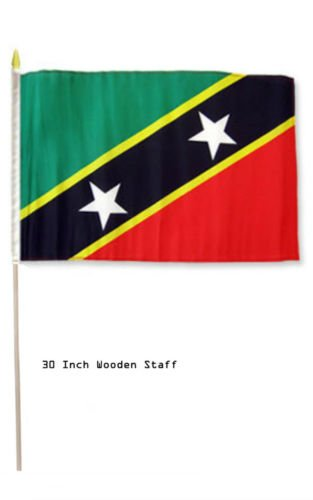amazon com 12 x18 st kitts nevis country stick flag 30