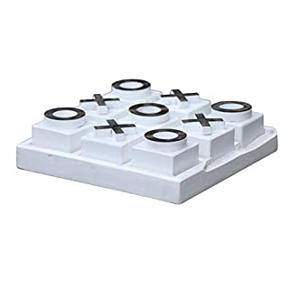 East at Main Tic Tac Toe Board, White