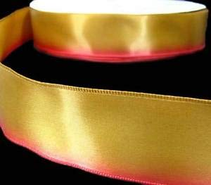 3 Yds Autumn Fall Gold Rust Red Ombre Gradient Variegated Satin Wired Ribbon 1 1 Florist, Flowers, Arts & Crafts Gift ()