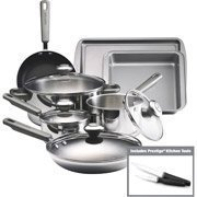 Farberware 13-Piece Non-Stick Stainless Steel Cookware Set