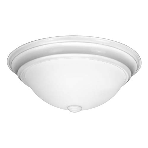 IN HOME 12,9 Inch LED Dimmable Flush Mount Ceiling Light Fixture Round Dome Opal Glass Shade 18 Watt (90W Repl) 4000K Bright Light 1000 Lm, White Finish, UL & Energy Star Listed