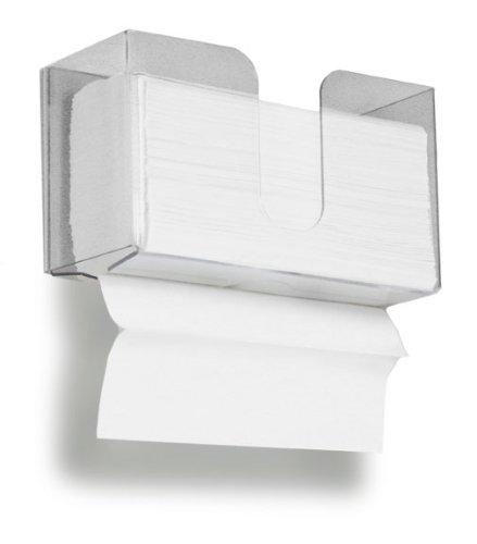 TrippNT 51912 Dual Dispensing Paper Towel Holder, 150 Multi-Fold Paper Towel Capacity and Peelable Protective Film...