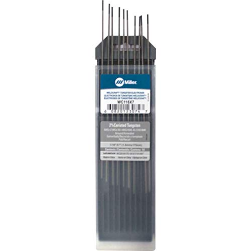 "Miller Weldcraft WC116X7 2% Ceriated Tungsten Electrode 1/16"" X 7"" 