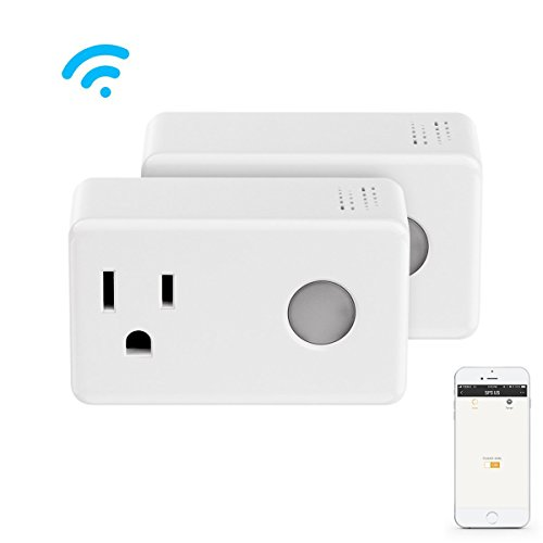 Wi-Fi Smart Timer Plug 2 Packs Mini, BroadLink Wireless Socket Outlet with Night Light, No Hub Required, Compatible with Alexa, Control your Devices from Anywhere, White by Broadlink