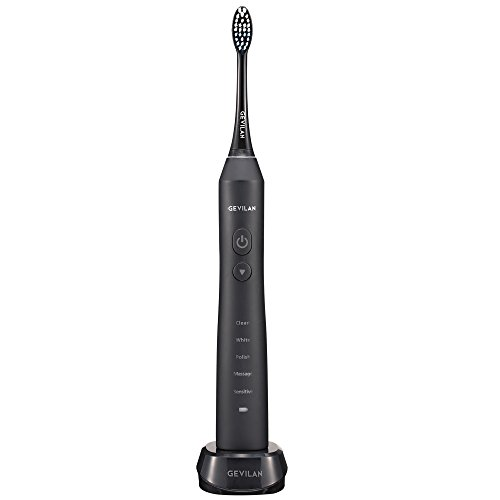 Electric Toothbrush Gevilan Rechargeable Sonic Brush with 2 Brush Head Black Review