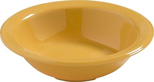 Carlisle 4386622 Dayton Melamine Fruit Bowl, 4.75 Oz., Honey Yellow (Set of 48) Carlisle Honey