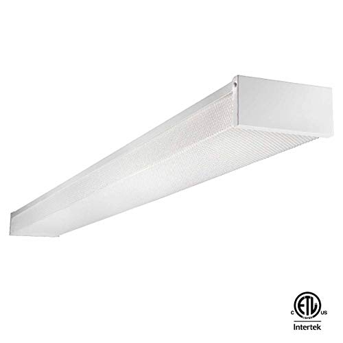 LED Wraparound light for garage light,led shop light Flushmount Light 4ft, 40w 4800Lumens 5000K, ETL and DLC Certified, LED Wrap Light, LED Linear Indoor Light, LED Puff Light,LED Ceiling Light,50K1PK