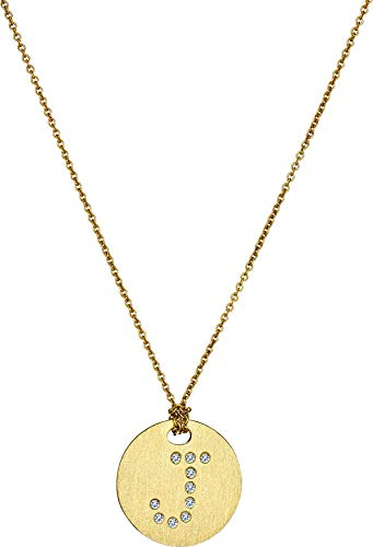 Roberto Coin Women's Tiny Treasures 18K Yellow Gold Initial J Pendant Necklace Yellow Gold One Size (Coin Diamond / Necklace Roberto 18k)