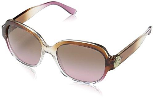 Michael Kors Women's Suz 0MK2055 56mm Brown/Pink/Crystal/Brown Rose Gradient - Kors Sunglasses Pink Michael