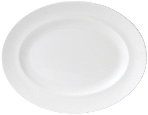Wedgwood - Bandeja blanca de 33 cm, WEDGWOOD PLATÓN OVALADO BLANCO 35 cm, Blanco, 13.75', 1