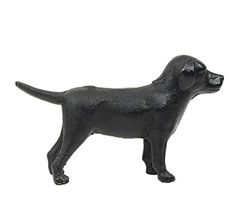 Cast Iron Labrador Dog Tabletop Décor- Black
