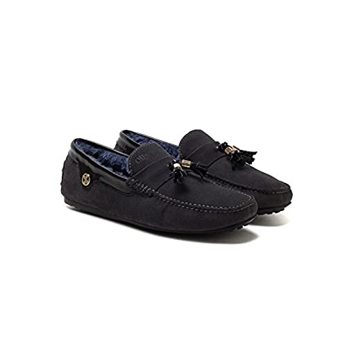 8ab04e3be7 good OPP Men s Formal Square Toe Driving Boating Loafers Leather Suede  Snowshoes for Winter